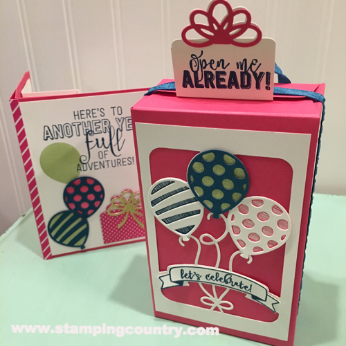 Balloon Pop-Up Dies Stampin' Up! Occasions Catalog 2017
