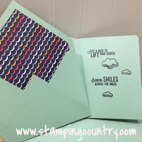 Lift Me Up Card & Matching Envelope