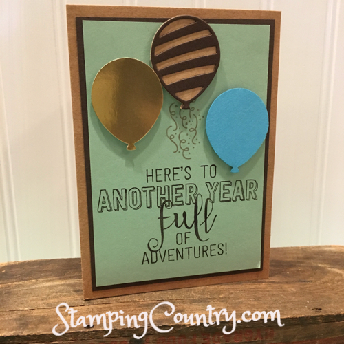 Balloon Adventures Handmade Birthday Card