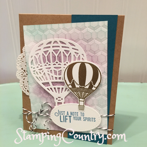 Lift Me Up Hot Air Balloon Card