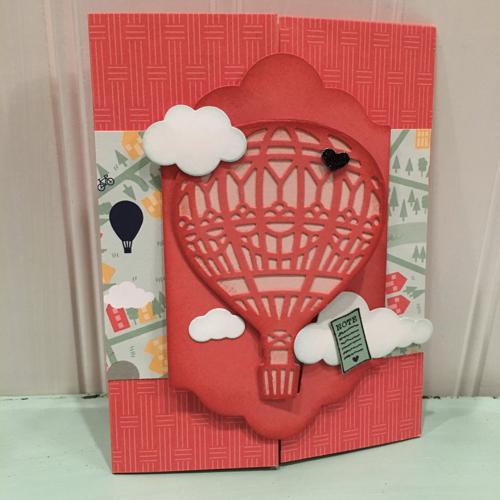 Lift Me Up Gate Fold Card by Carol Dennison
