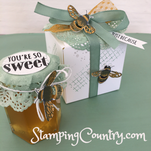 Honey Bee Gift Box & Honey Jar