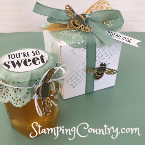 Honey Bee Gift Box & Honey Jar