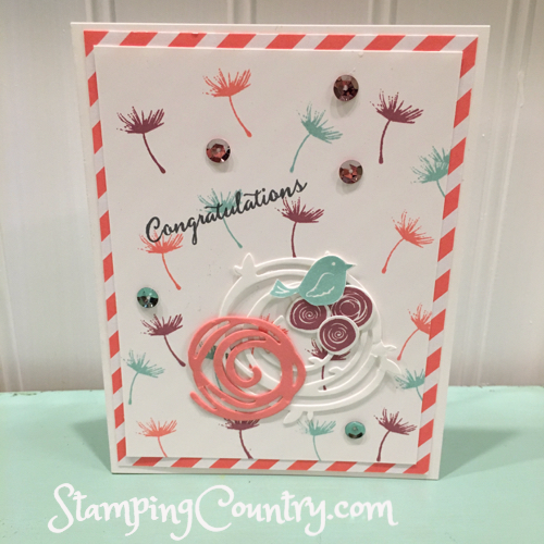 Hand Stamped Spring Card