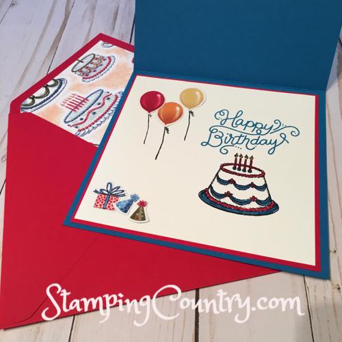 Handmade Birthday Card & Envelope