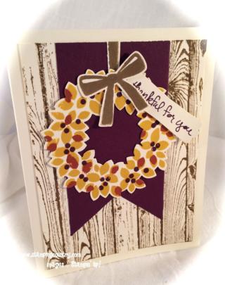 Autumn Wonderous Wreath Card