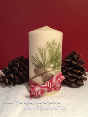 Ornamental Pine Candle
