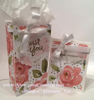 English Garden Gift Bag & Card