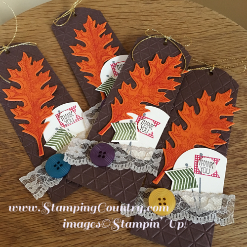 Vintage Leaves & Banner Banter Stamps