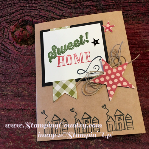 Welcome words welcome home stamping country new home card m4hsunfo