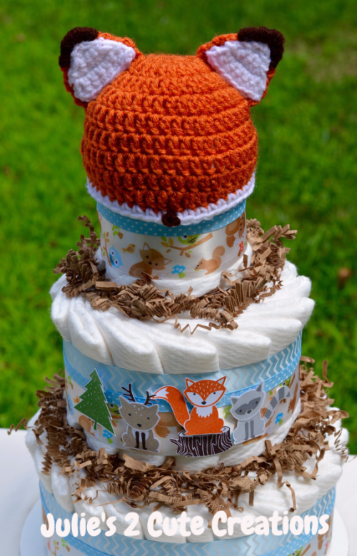 Foxy Friends Diaper Cake Julie's 2 Cute Creations