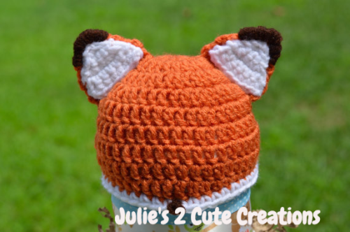 Fox hat for baby Julie's 2 Cute Creations
