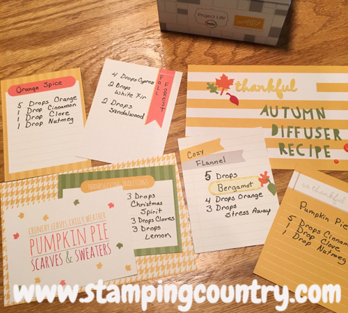 Autumn Essential Oils Project Life