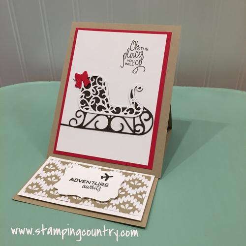 Santa's Sleigh Easel Card