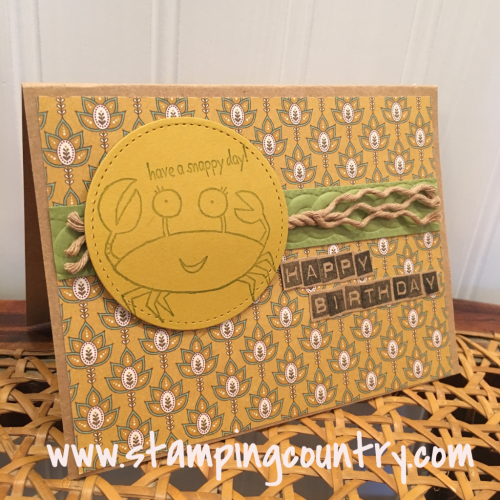 Handmade Masculine Birthday Card Stamping Country