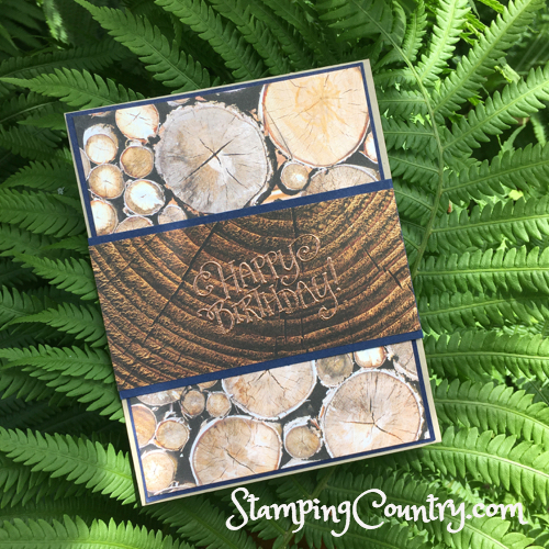 Wood Textures Birthday Card