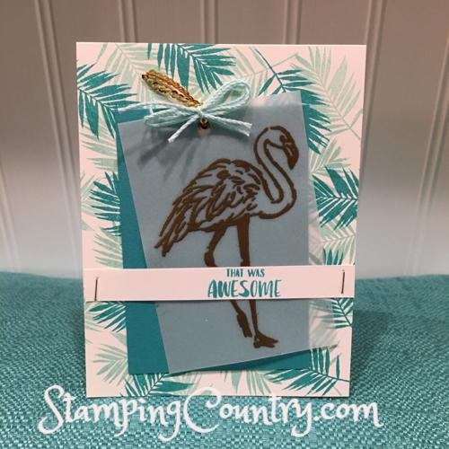 Fabulous Flamingo Handmade Card
