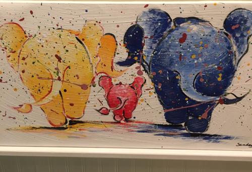 Elephant painting Thailand Artist Sonday