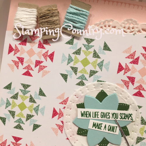 Christmas Quilt Stampin' Up! Holiday Catalog
