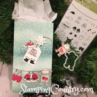 Santa's Suit Gift Bag